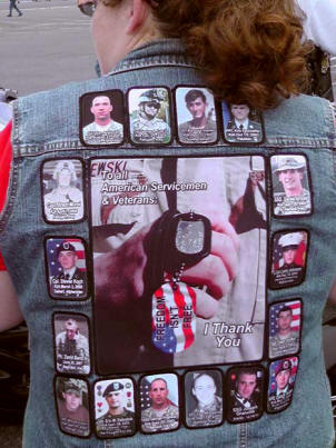 motorcycle vest with memorial patches