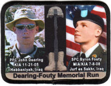 memorial run photo patch