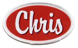 oval name patch