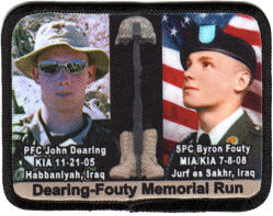 photo memorial run patches