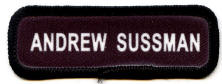 scout name patch black